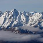 Le Mont Valier et la chaîne sous la neige